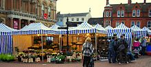 Enjoy Ipswich Market day at Town Centre by Jim Becker senior citizen