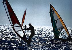 God vind til surfing ved Blåvand