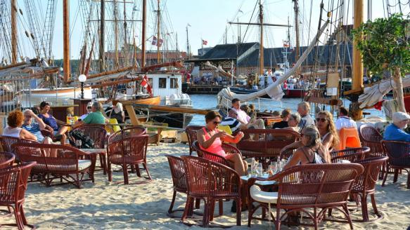 Hygge på havnen i Svendborg