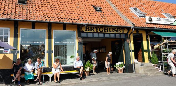 Allinge byliv Bornholm Denmark