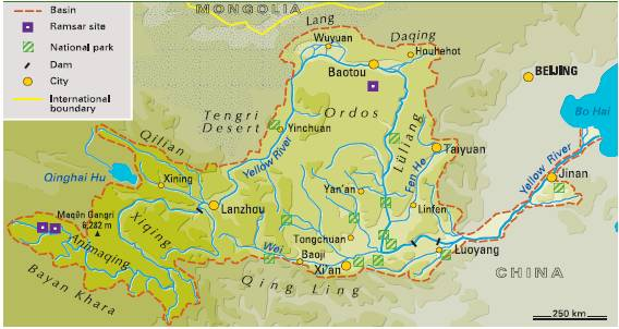 The Yangtze and Yellow Rivers China