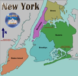 New York City borough Map
