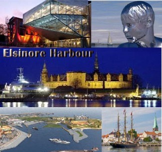 Elsinore Cruise Ship Harbour Denmark