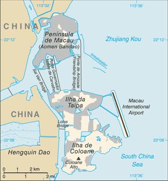 Macau penisula China