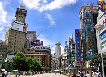 Nanjing Lu is Shanghai´s widest walking street, which termin