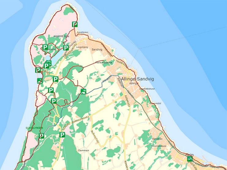 Smiling Nord Bornholm map