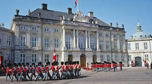 Amalienborg slot København Danmark