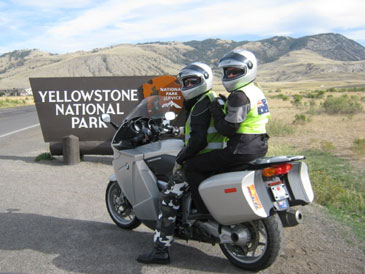 Rental Honda ST1300 streamside at Yellowstone