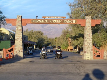 Rental motorcycles at Furnace Creek in Death Valley