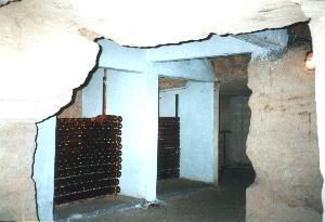 Vineyeards Real caves, full of wine bottles everywhere in BORDEAUX  !