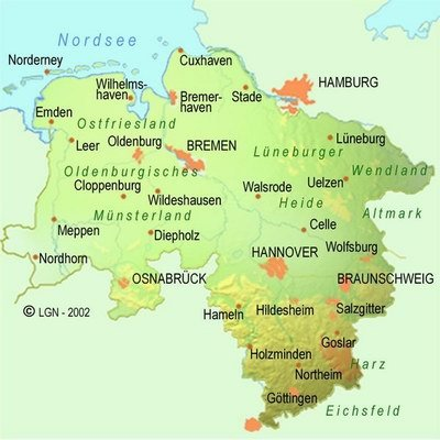 Lower Saxony population 7928869 Area Km2 4762422 km2 Largest