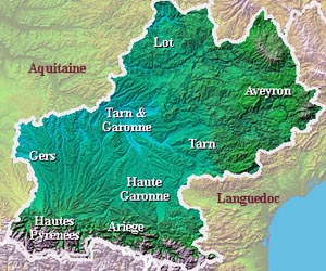 Midi-Pyrénées is made up of 8 departments