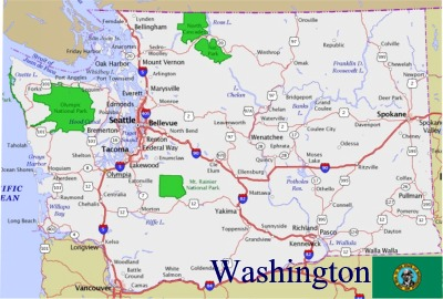 Seattle Political Map.Washington State Political Capital Seattle America Us Wa The State