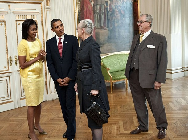 Barach and Michelle Obama visit Denmark
