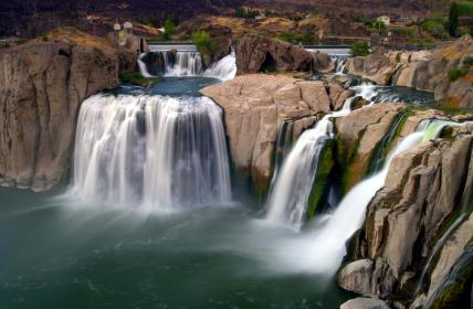Shoshone Falls America is a waterfall on the Snake River Idaho