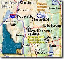 Idaho southeast Map