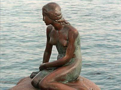Hans Christian Andersen, The Little Mermaid Copenhagen Denmark - Den lille havfrue København