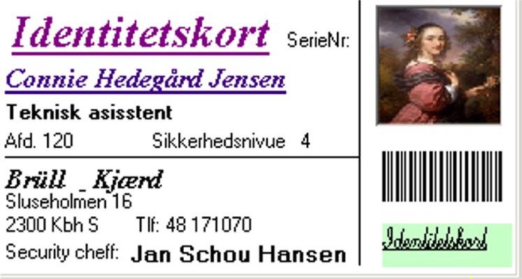 Stregkode på identitetskort