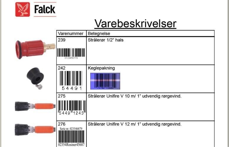 Kasseapparater stregkoder og prislabels