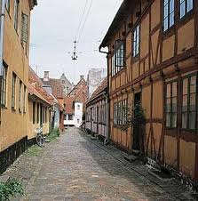 Narrow cobbled street