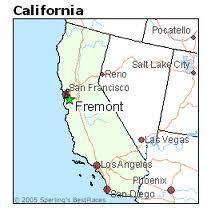 Fremont City map
