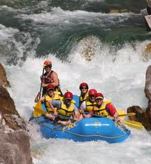 white water rafting at Idaho Falls Bonneville county of Idaho
