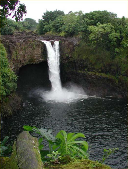 Big Island Hawaii rainbow falls