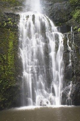 waterfall hana maui hawaii usa
