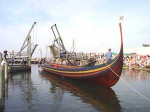 rekonstruktion af  Vikingeskibet Skuldelev 2 Roskilde