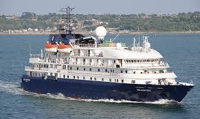 Krydstogtskibet MS Island Sky Anløber Kongekajen Helsingør