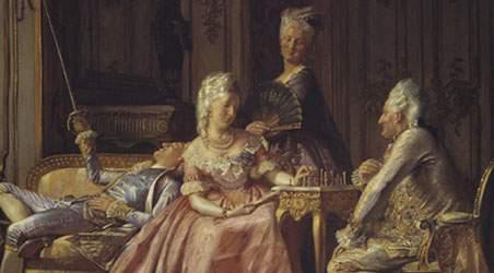 Caroline Mathilde og Struensee spiller skak