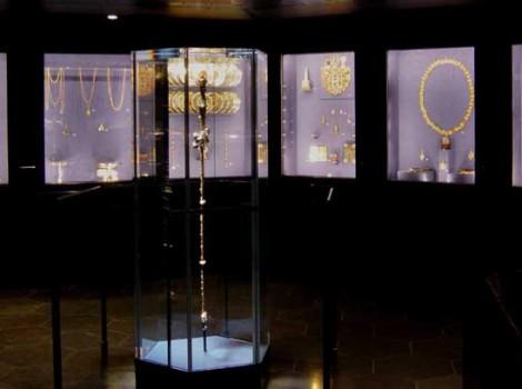 Kronjuvelerne i Skatkammeret på Rosenborg Slot