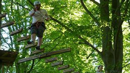 Til-Tops rope track parks Hornbaek