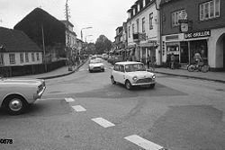 Gadebillede fra Hornbæk footgraferet 22/7 1974 af Anne-Sofie Rubæk