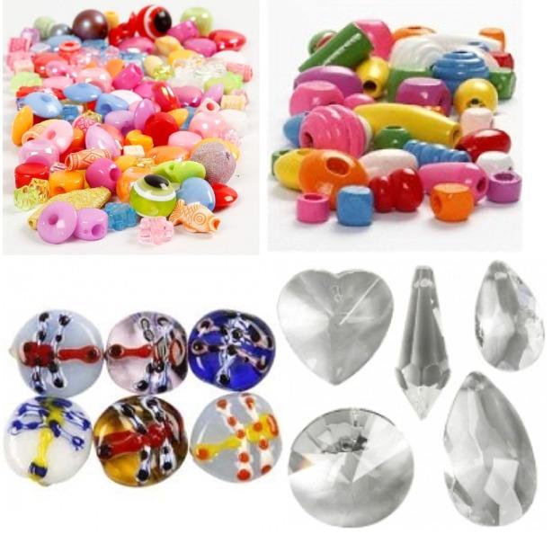Billigste Glasperler plast ler og træ perler